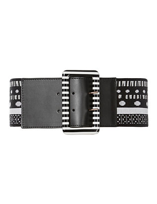 Monochrome Knit Belt