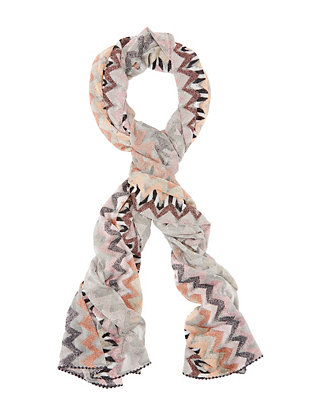Lurex Chevron Scarf