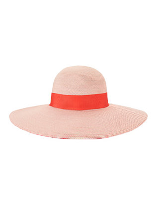 Eugenia Kim Honey Wide Brim Hat: Pink/Coral
