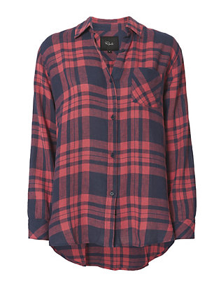 Rails Charlie Maroon Button Down Shirt