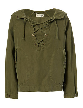 Nili Lotan Lace-Up Hooded Anorak