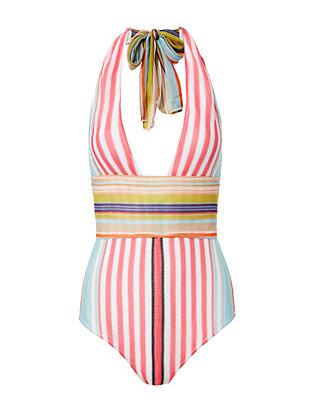 Striped One Piece Swimsuit- FINAL SALE