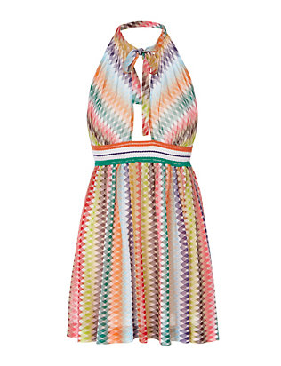Missoni Mare Knit Crochet Detail Halter Dress