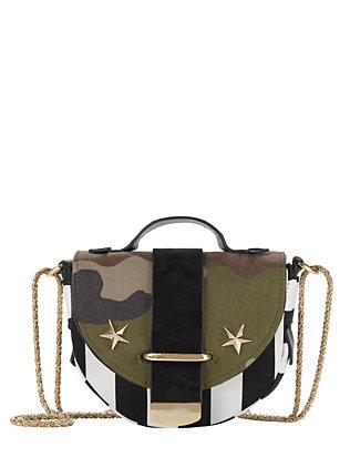 Striped Army Bag