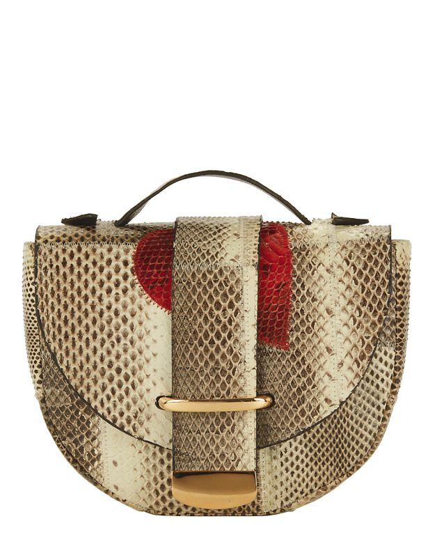 Delphine Delafon Red Heart Python Bag
