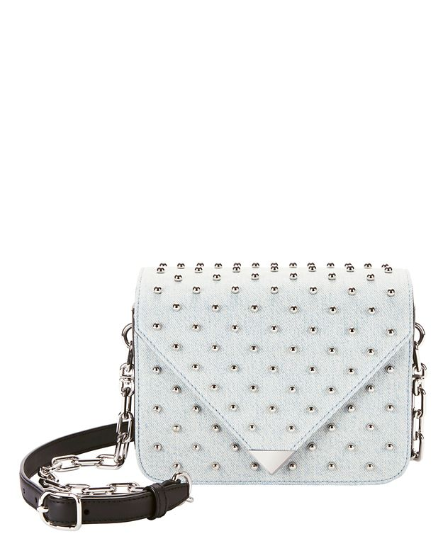 Alexander Wang Prisma Studded Denim Envelope Crossbody