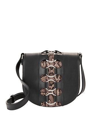 Lia Studded Snakeskin Bag