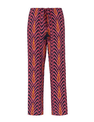Figue Goa Peacock Palm Print Pant