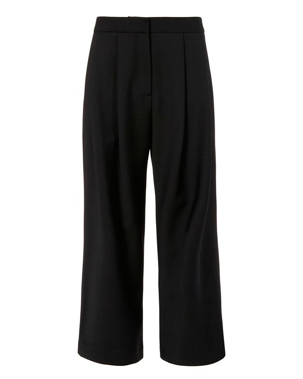 Adam Lippes Cropped Culotte: Black