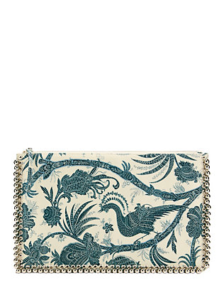 Zimmermann Chintz Bird Print Envelope Clutch
