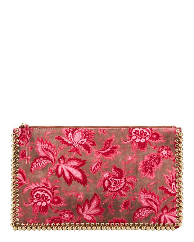 Zimmermann Paisley Chintz Envelope Clutch: Pink