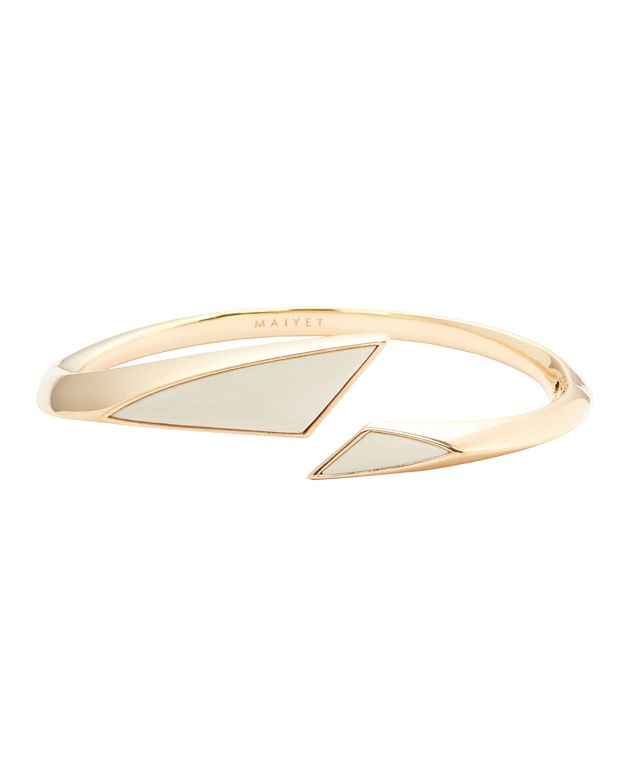 Maiyet Torqued Small Bracelet: Gold