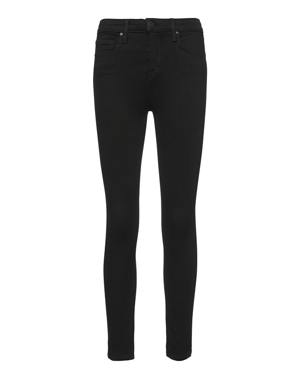 L'Agence Margot Noir High-Rise Ankle Skinny Jeans