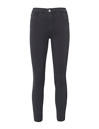 L'Agence Margot Grey High-Rise Ankle Skinny Jeans