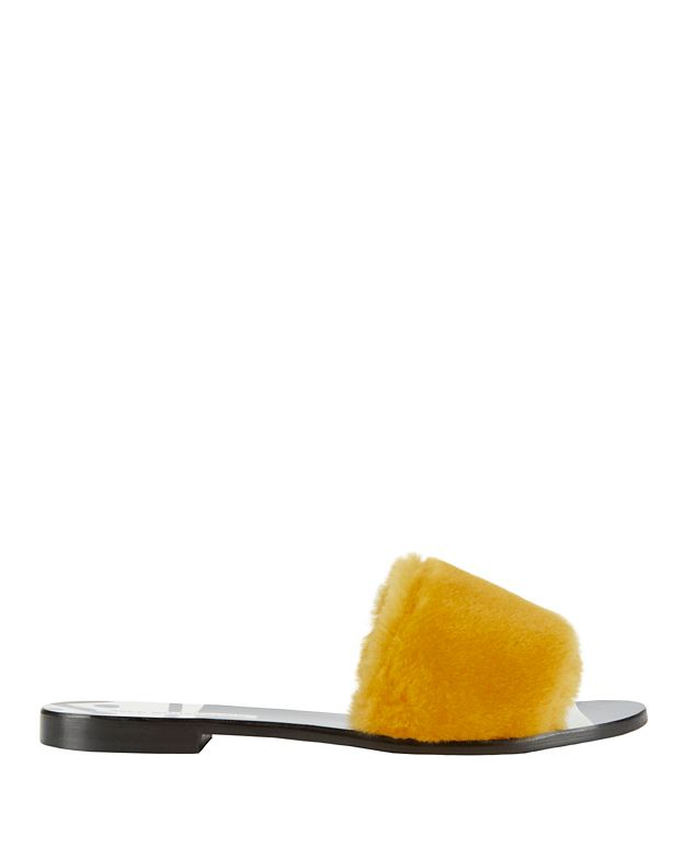 Avec Moderation Faux Fur Slide Sandals