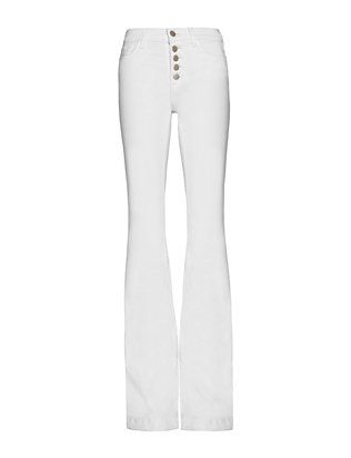 J Brand Maria Exposed Fly Flare: White