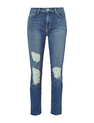 L'AGENCE Marcelle French Slim Fit Distressed Jean