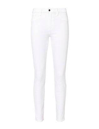 L'Agence Marguerite High-Rise Blanc Skinny Jeans