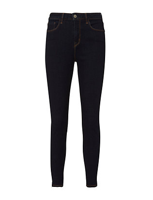 Andrea High-Rise Skinny Zip Jeans