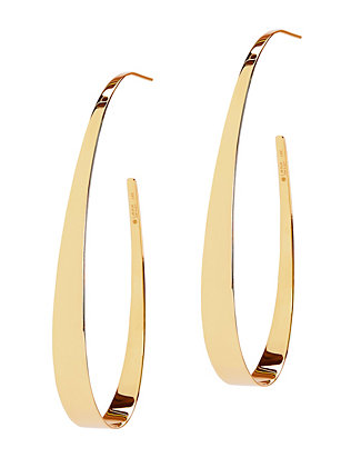Lana Jewelry Mega Narrow Gloss Hoop Earrings