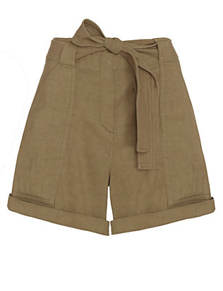 A.L.C. Gregory Tie Waist Shorts: Olive