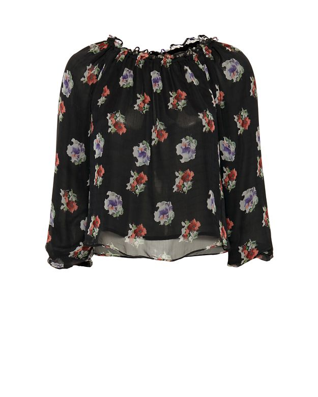 Chelsea Flower EXCLUSIVE Floral Print Off The Shoulder Blouse