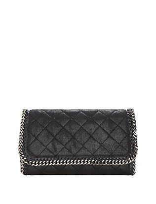 Shaggy Deer Flap Clutch: Black