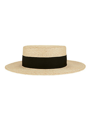 Eugenia Kim Brigitte Straw Bow Boater Hat