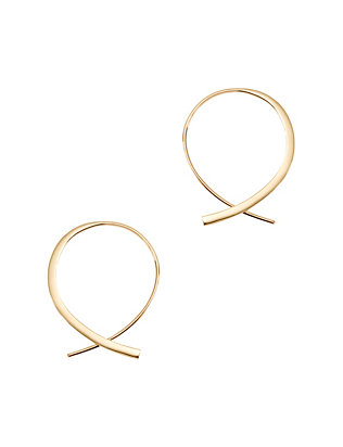Lana Jewelry Forward Upside Down Hoops