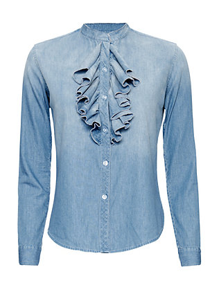 NSF EXCLUSIVE Ruffled Denim Shirt