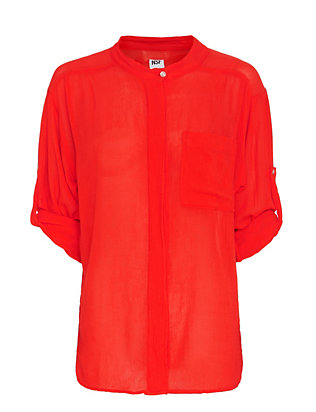 NSF EXCLUSIVE Layla Gauzy Shirt: Red