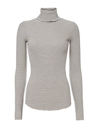 Jacqui Stripe Turtleneck