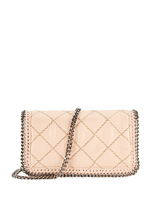 Falabella Flap Quilted Crossbody: Nude