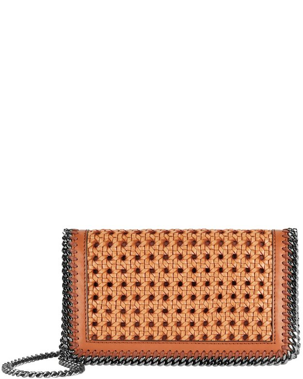 Stella McCartney Falabella Flap Perforated Crossbody: Brown