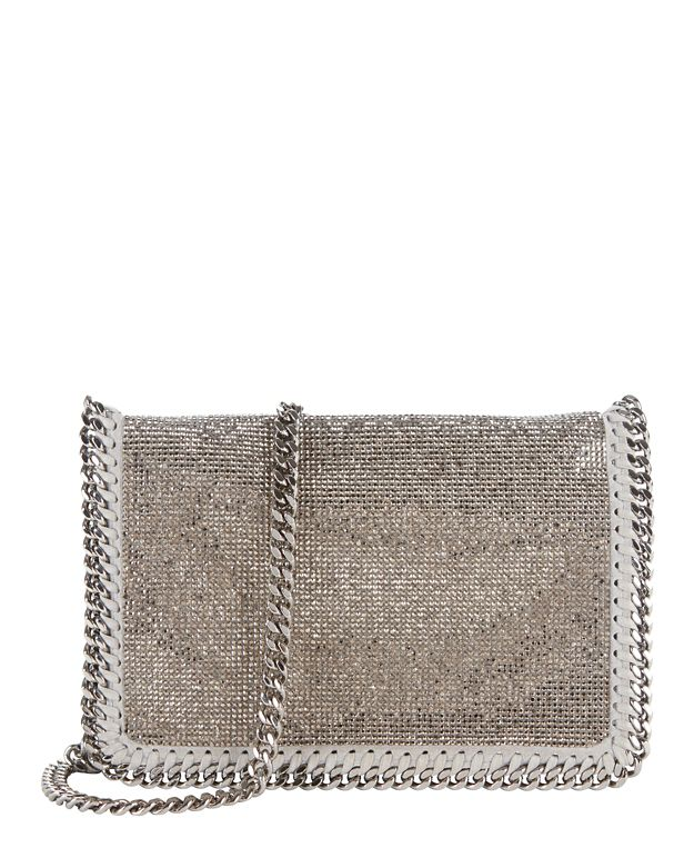 Stella McCartney Falabella Silver Mesh Flap Small Crossbody
