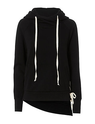 Enzo Lace-Up Side Sweatshirt