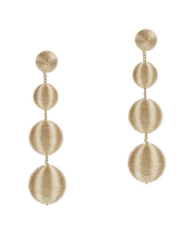 SUZANNA DAI Metallic Gumball Drop Earrings