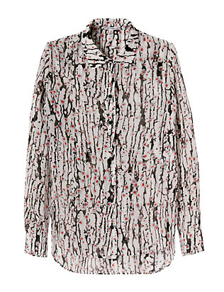 Carven Georgette Print Blouse