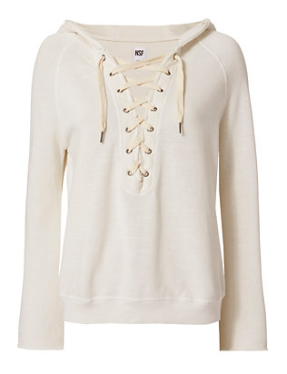 Soft Sweats Lace-Up Hoodie