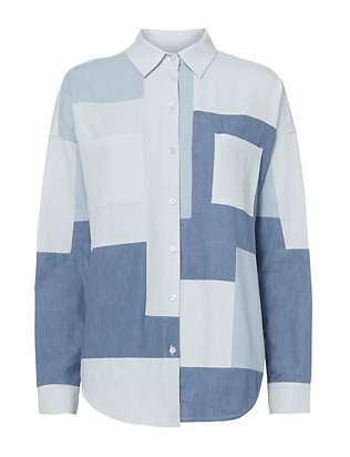 NSF Patchwork Denim Shirt