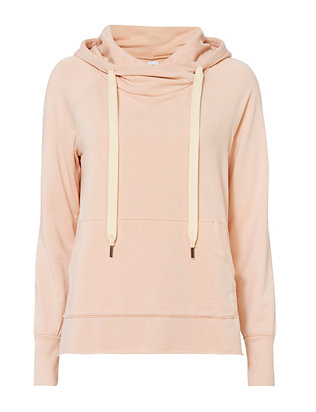 Split Hem Hooded Sweatshirt