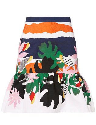 Isolda Bahia Print Skirt