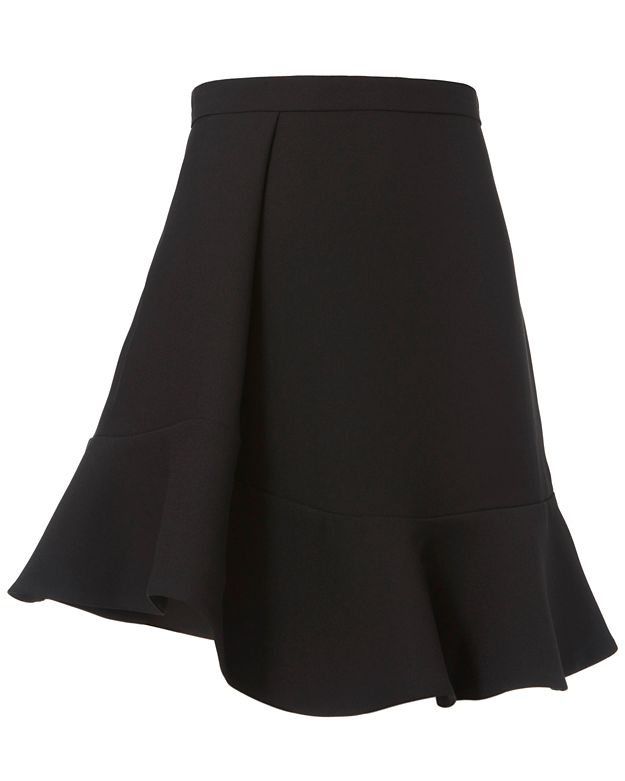 Carven Flounced Hem Skirt