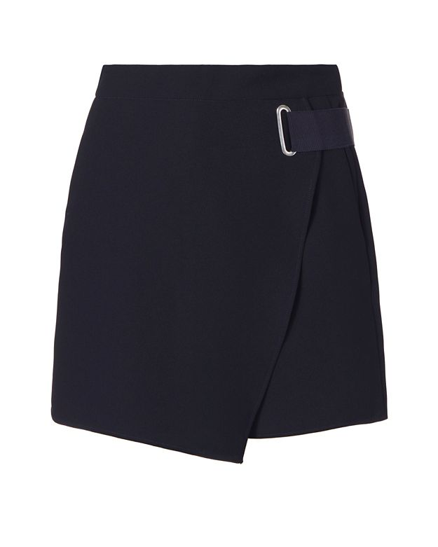 Carven Ribbon Detail Skort: Navy