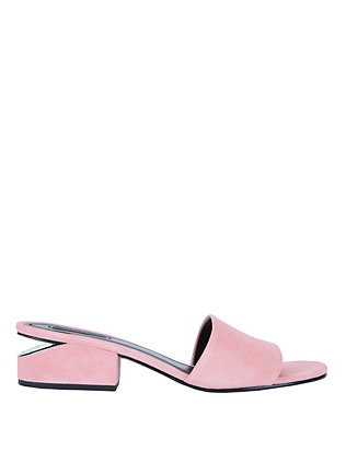 Lou Pink Suede Slide Sandals
