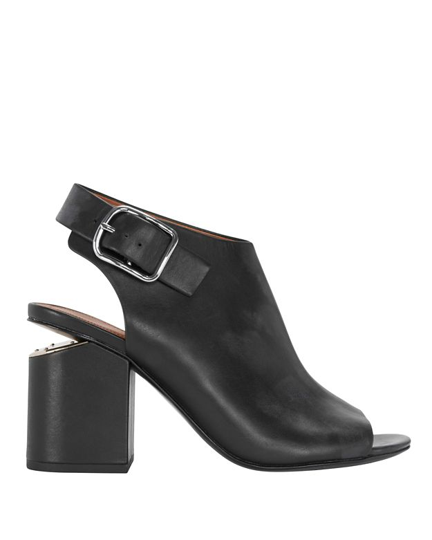 Alexander Wang Nadia Buckled Slingback Open Toe Bootie: Black