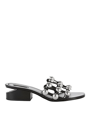 Alexander Wang Lou Studded Slide Sandals