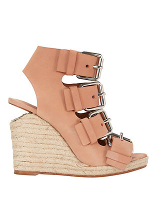 Alexander Wang Quadruple Buckle Detail wedge Espadrille