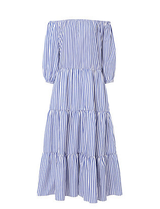Tiered Stripe Dress