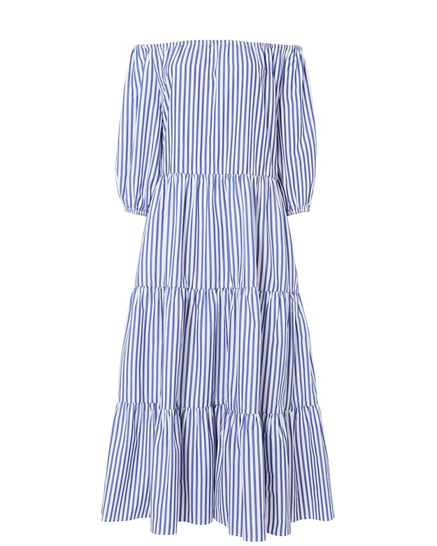 MDS Stripes Tiered Stripe Dress